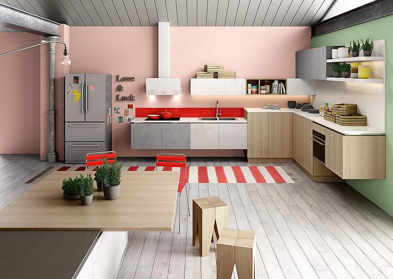 Итальянская кухня в стиле лофт B50 Naturale от фабрики Berloni