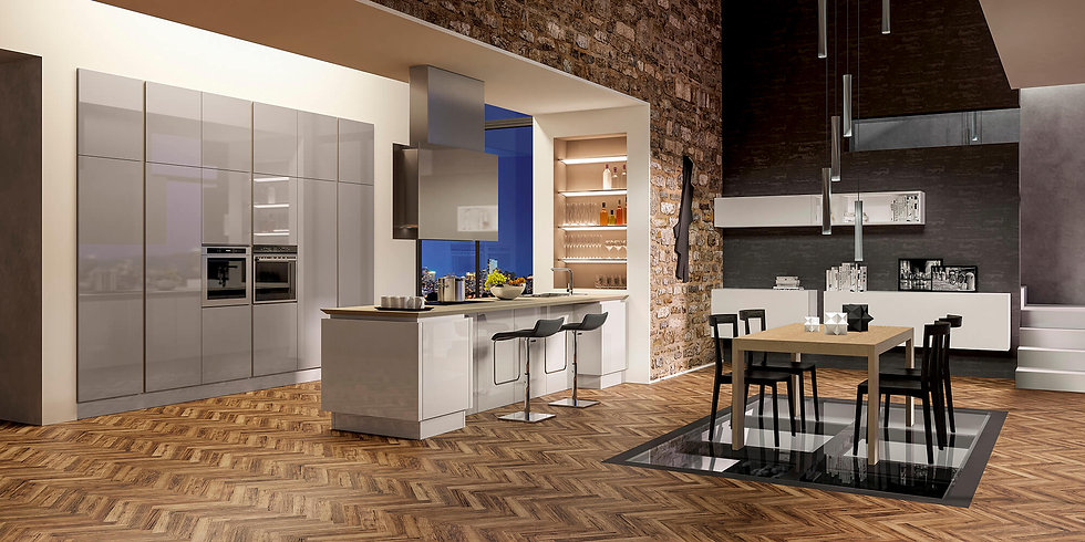 Итальянская кухня в современном стиле B50 Biscotto от фабрики Berloni