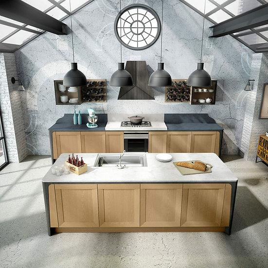 Итальянская кухня в стиле лофт Milano Vintage от фабрики Berloni