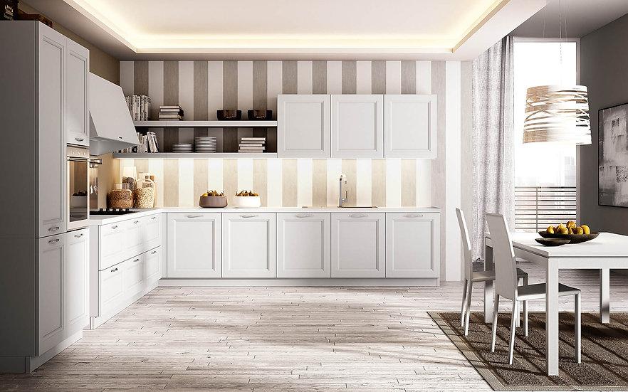 Итальянская кухня нео классика Ginevra Bianco от фабрики Berloni