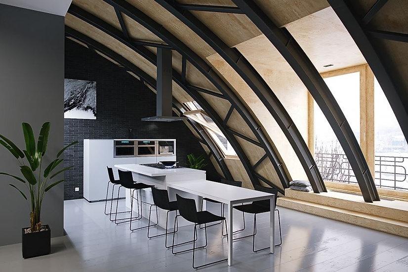 Итальянская кухня Gabriel в современном стиле от Берлони