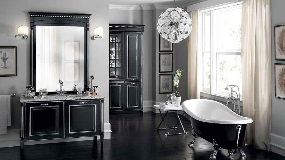 Утонченные линии и отделка, воссоздающие очарование запоминающегося стиля, в предложении мебели с матовым лаком черного цвета
