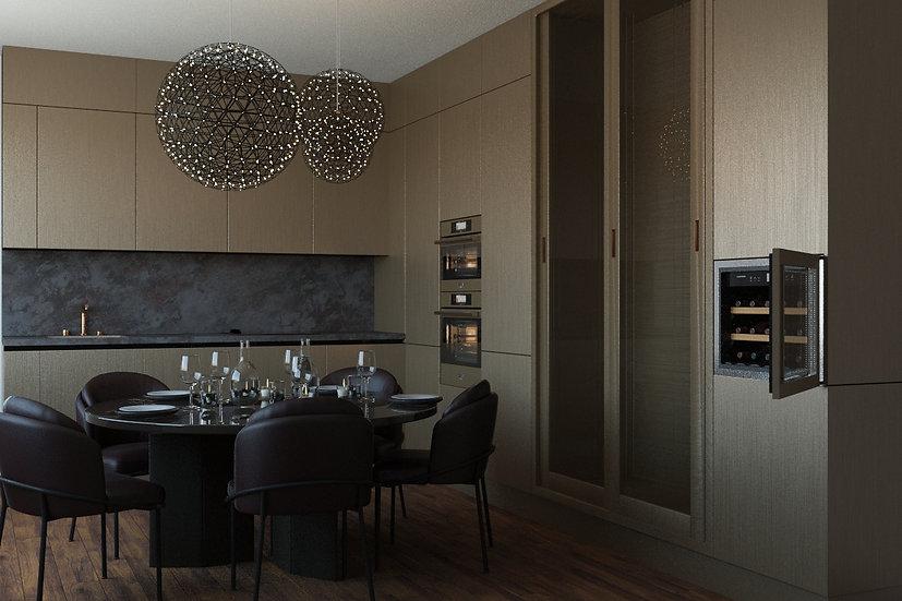Элитная итальянская кухня Bvolume Bronze от фабрики Berloni