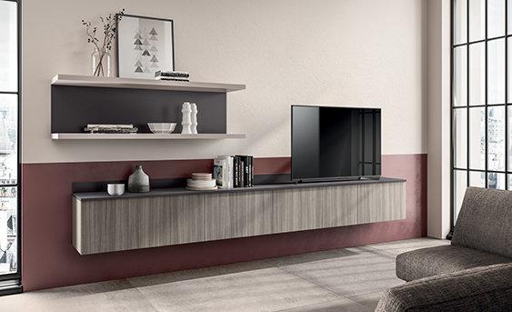 Модель Urban также позволяет обставить жилую зону, сохранив стилистическую преемственность с кухней благодаря изысканной отде