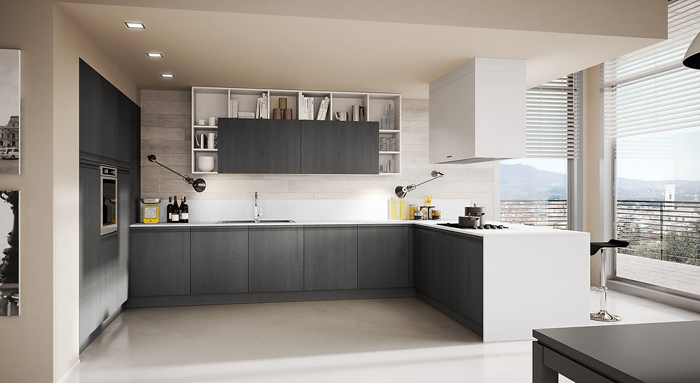 Итальянская кухня в современном стиле Canova Moderne от фабрики Berlon