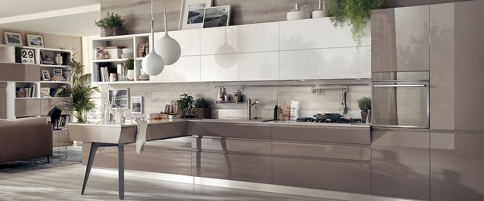 Линейный проект кухни Motus с минималистским дизайном