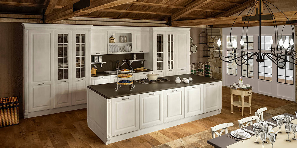 Итальянская классическая кухня  Athena Zinco от фабрики Berloni