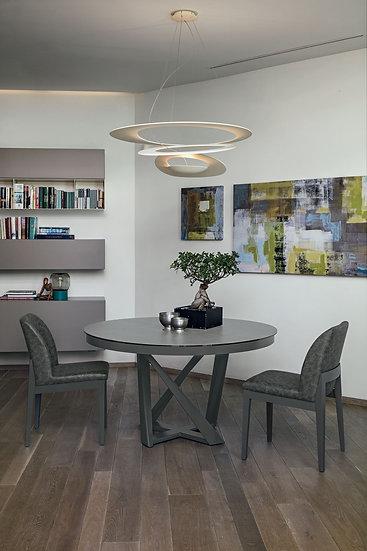 Итальянский круглый стол со столешницей из керамогранита купить в Москве