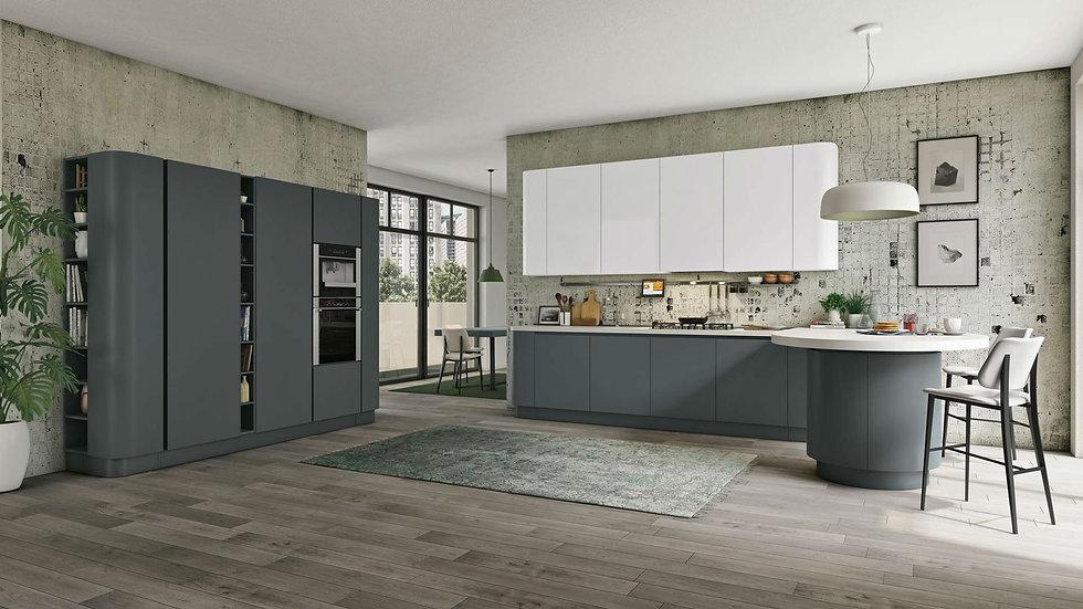 Итальянская кухня Ciglia в современном стиле от фабрики Berloni