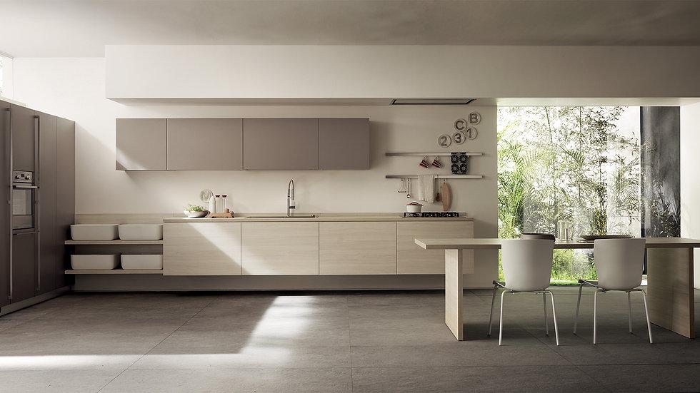 """""""Главная концепция, идея, которая легла в основу данной кухни, заключается в том, чтобы спрятать ее в двух элементах, посколь"""