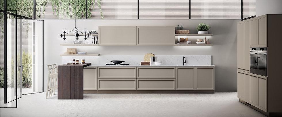 В дизайнерской кухне в абсолютной гармонии сочетается легкость и симметрия, выделяются чистые геометрические формы и четко оч