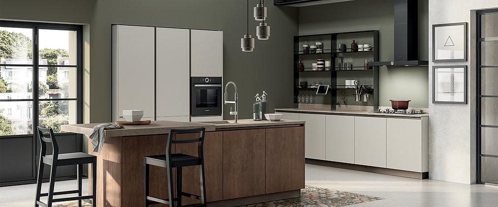 Итальянская кухня Evolution-5 фабрики Scavolini