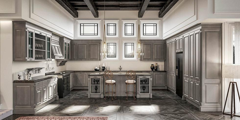 Итальянская классическая кухня Grangala Smoke от фабрики Berloni