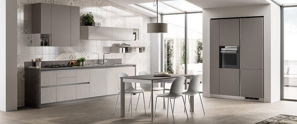 Сбалансированный интерьер в уютных оттенках.Приятная атмосфера на кухне и удовольствие от ее ежедневного использования кроетс