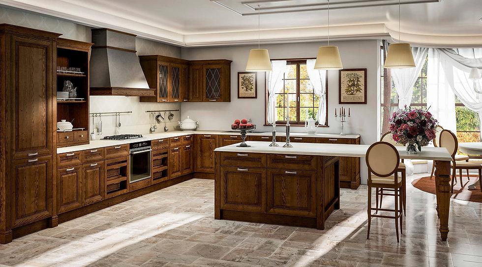Итальянская классическая кухня Sheraton Noce от фабрики Berloni