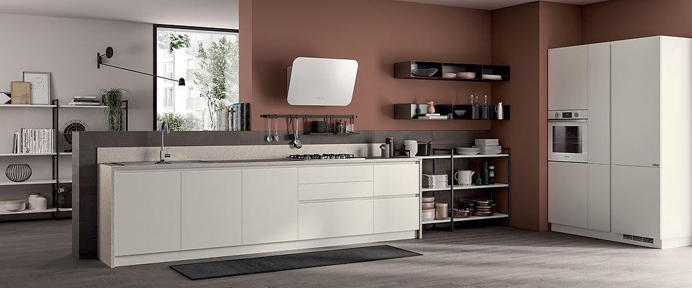 Элегантная и функциональная кухня, располагающая к совместному времяпрепровождению.  Приятная атмосфера на кухне и удовольств