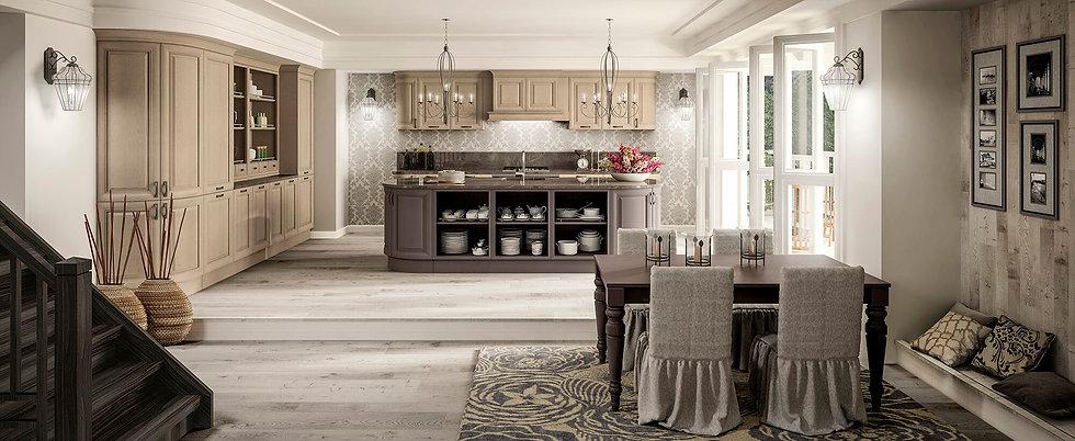Итальянская кухня нео классика Sheraton Frassino от фабрики Berloni