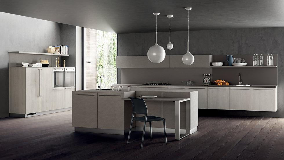Тщательный отбор используемых материалов и их цветовая сочетаемость обеспечивают подчеркнутую индивидуальность кухни: декорат