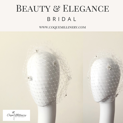 Flora Rhinestone Bridal Veil