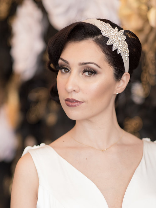 Ivory Applique Headband