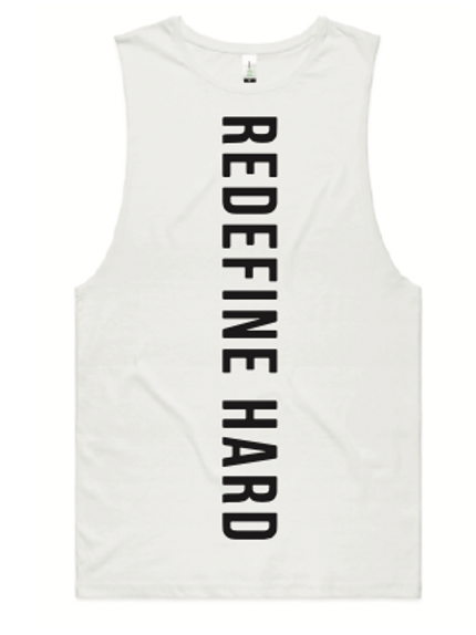 REDEFINE HARD Workout Tank -White