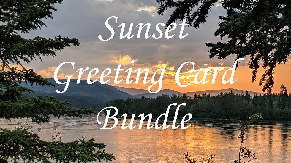 Sunset Greeting Card Bundle