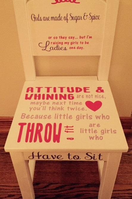 Girls Time Out Chair