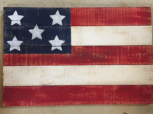 Rustic Pallet Flag