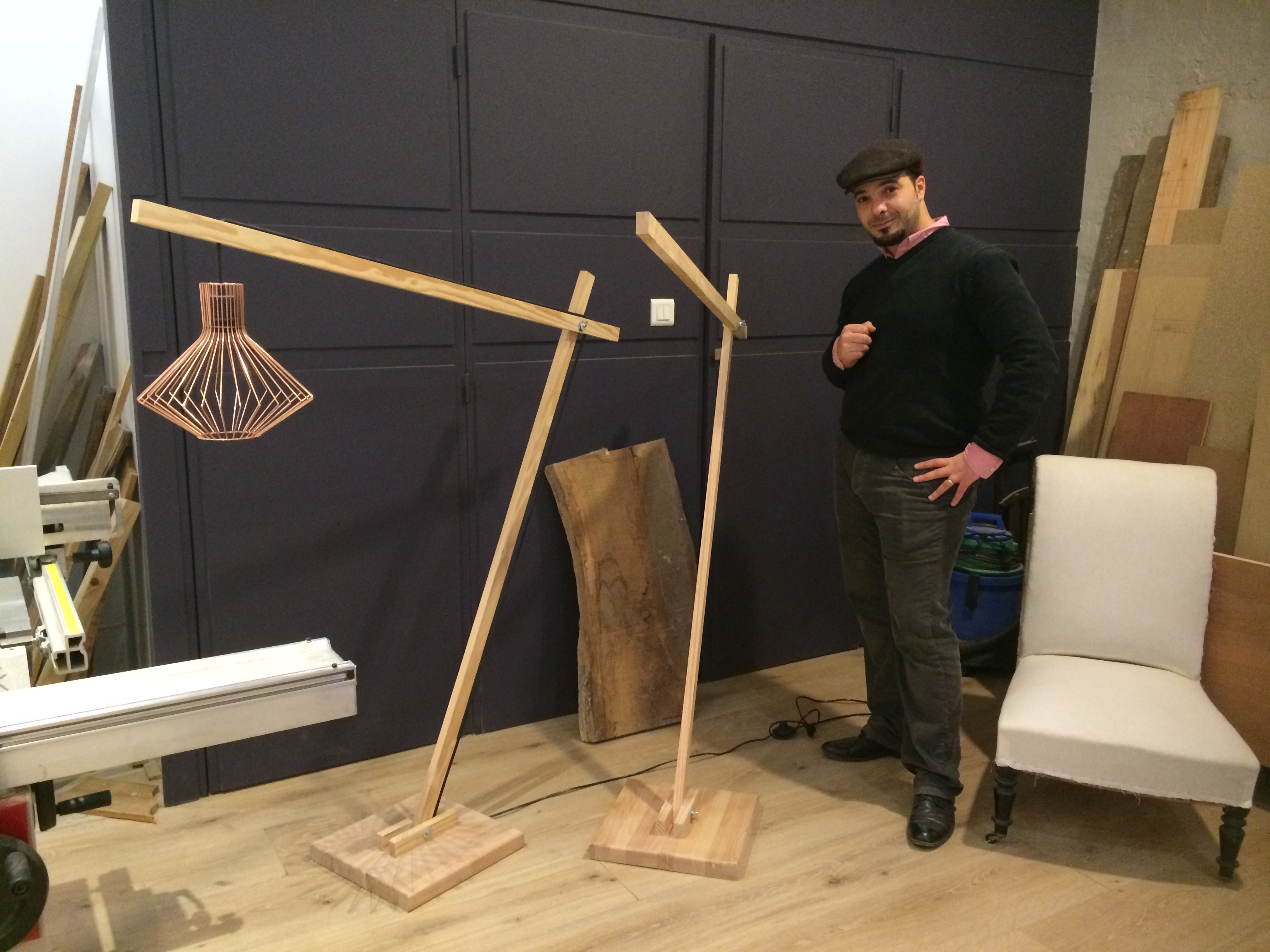 Stage DIY lampe design en bois