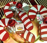Chocolate Shop Candy Cane Box
