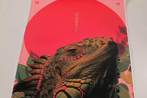 Pôster Iguana (Leia&Medite)