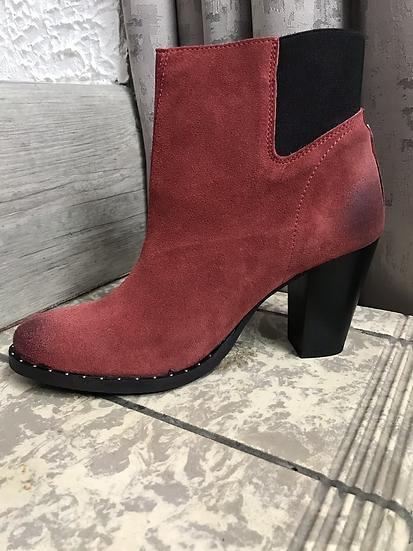 Boots rouge en cuir Salsa
