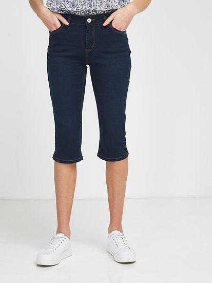Corsaire en jean bleu brut