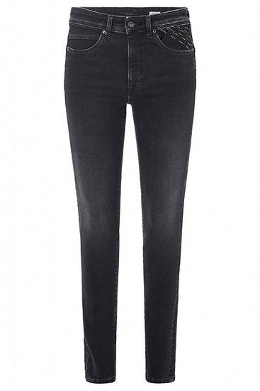 Jean skinny glamour Push In Secret avec détails sur les poches