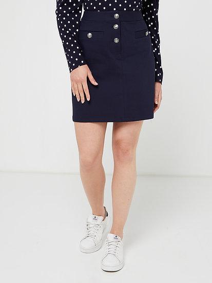 Jupe bleu marine avec boutons