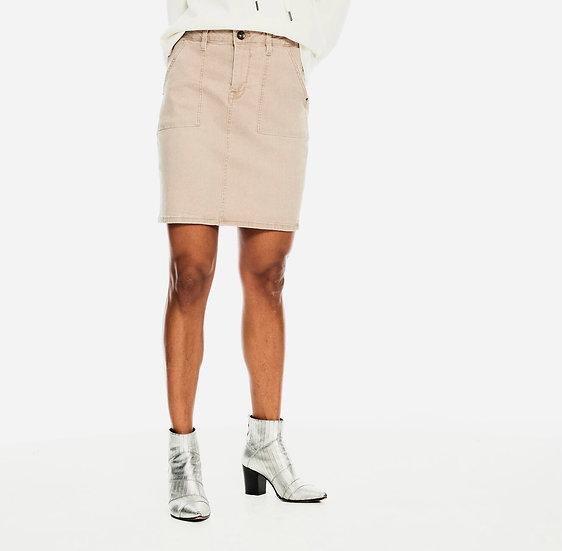 Jupe courte droite beige