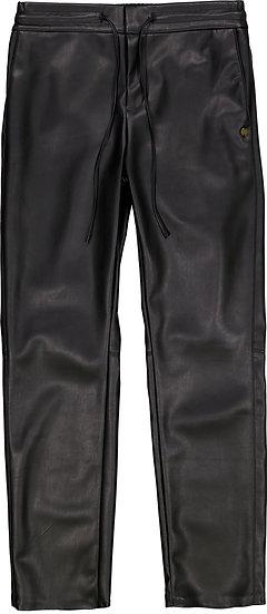 Pantalon simili-cuir élastiqué