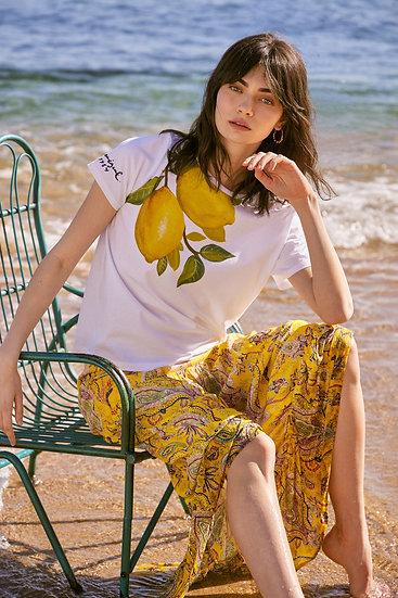 Tee-shirt citron 100% coton
