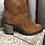 Thumbnail: Bottines en cuir camel Salsa