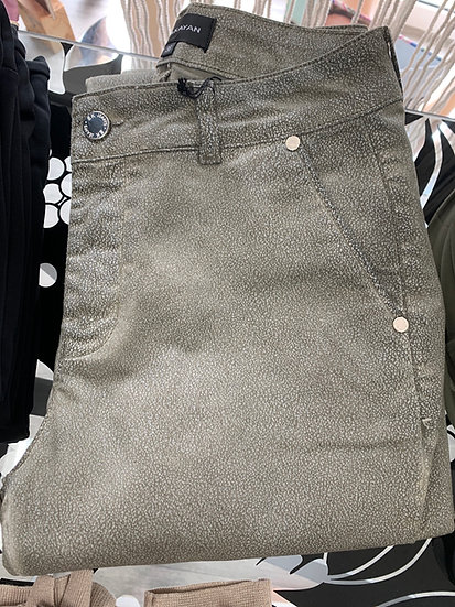 Pantalon forme chino microprint