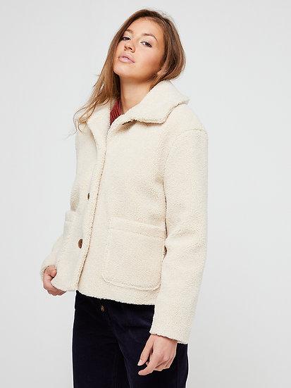 Manteau bouclettes couleur beige 🧥