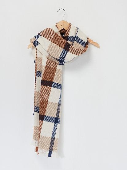 Écharpe chaude à carreaux