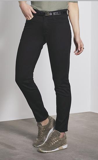 Pantalon noir taille haute Para Mi matière technique