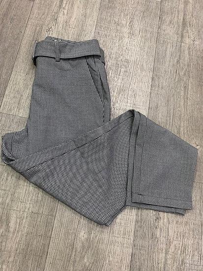Pantalon imprimé pied de poule