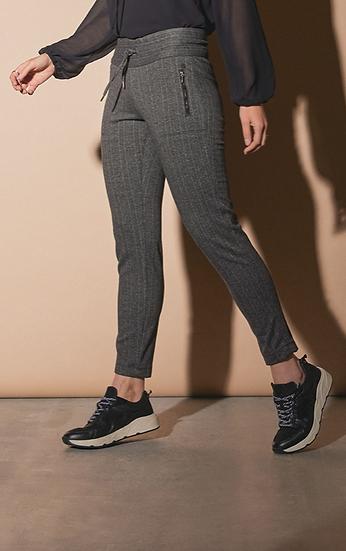 Pantalon chino élastiqué avec impression