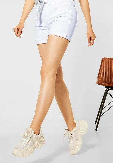 Short blanc taille haute
