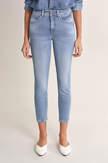 Jean taille haute secret glamour capri