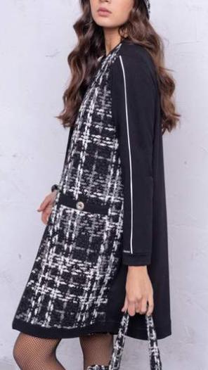 Longue veste style Chanel