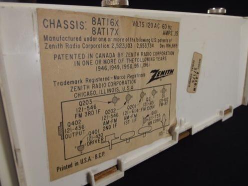 Zenith Transistor Radio Model A-410-W