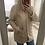 Thumbnail: Manteau à capuche à l'aspect chiné beige rosé